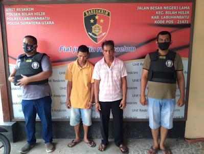 Iwan Nasution dan Hadi Nasution, Dua Warga Tanjung Sarang Elang Diciduk Bawa Sabu