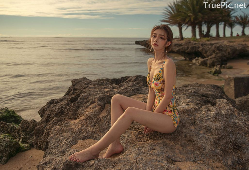Korean Fashion Model - Kim Moon Hee as an Angel in Summer Swimsuit - TruePic.net - Picture 2