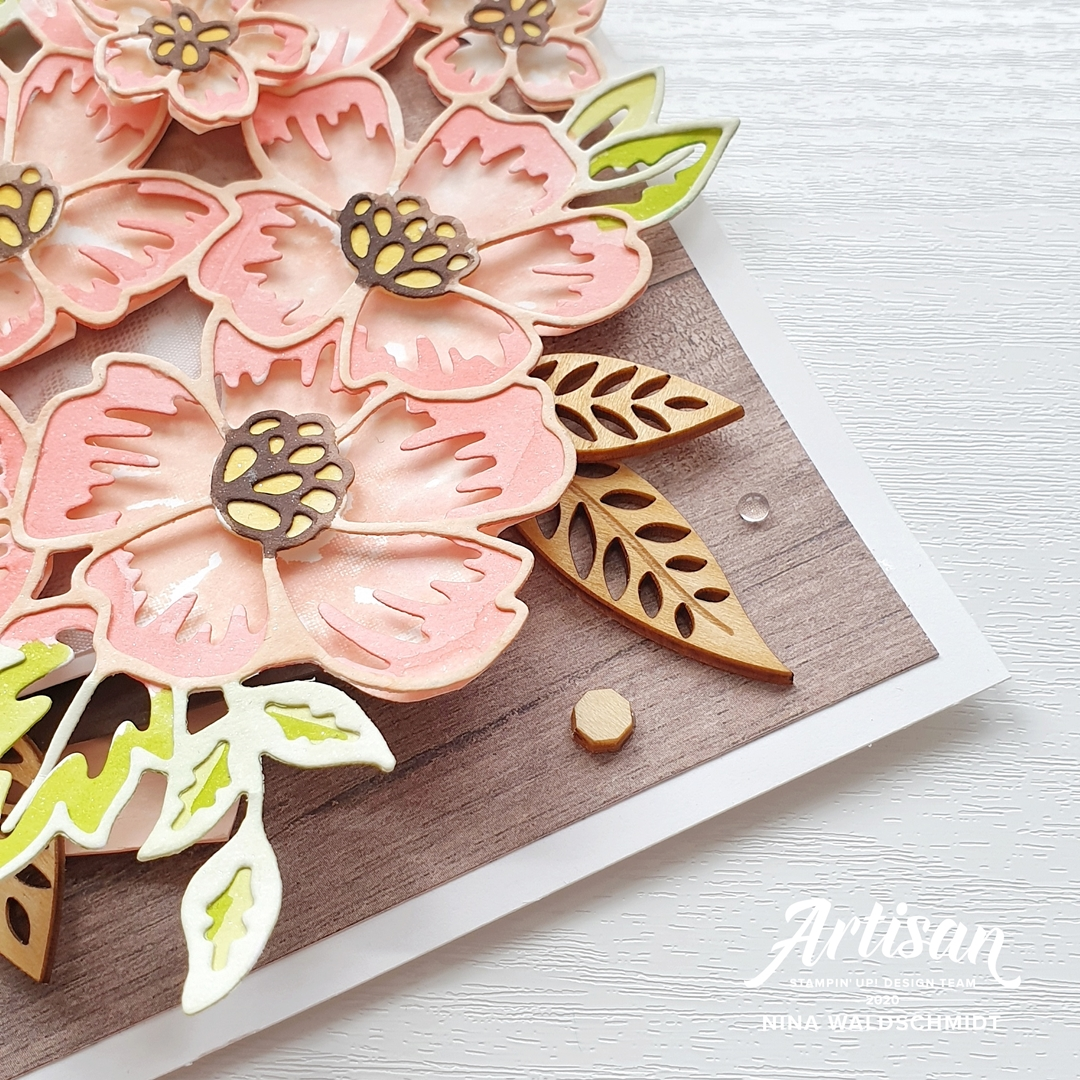 Mama Nina Stampin Up Artisan Design Team Blog Hop Blossoms In Bloom Blumengruß