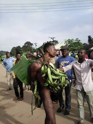 This Man Was Beaten And Stripped For Stealing Plantain (Photo)