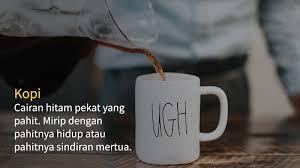Gambar kopi yang lucu
