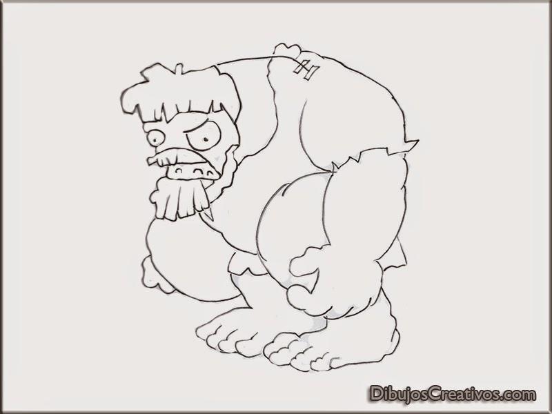 Dibujos De Zombies Para Imprimir Y Colorear: Dibujos Dibujar De Plantas Vs Zombies