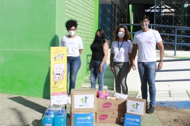 Prefeitura de Santa Cruz recebe kits contra a covid-19 do UNICEF