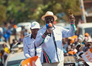 Raila Odinga in Meru. PHOTO | File