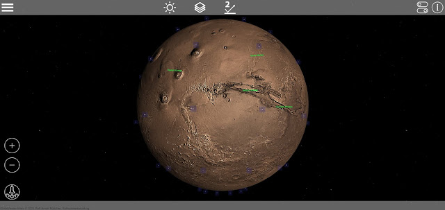 GlobeViewer Mars for Android on a Pixel 4 XL