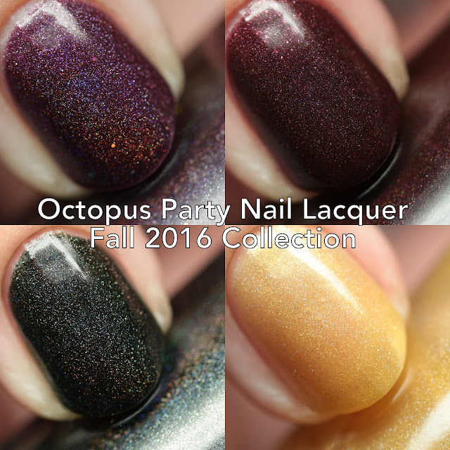 Octopus Party Nail Lacquer Fall 2016 Collection Part One