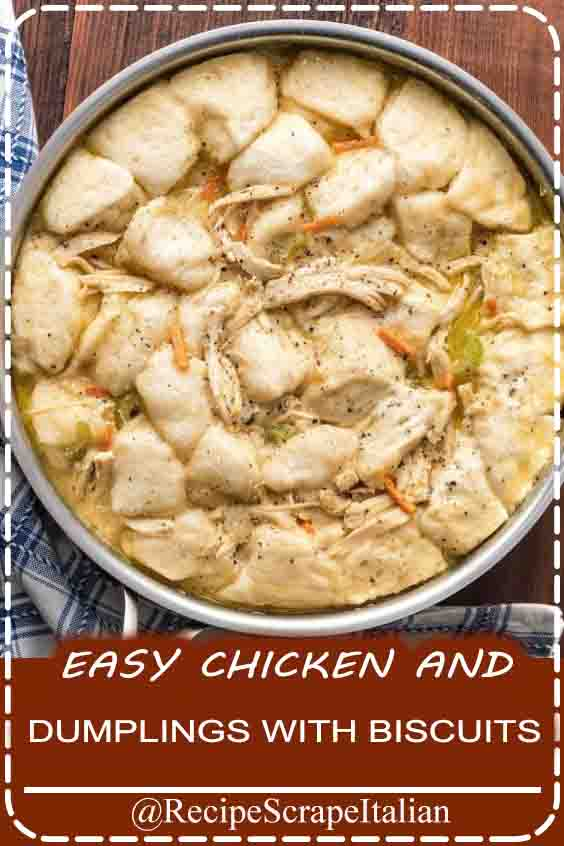 EASY CHICKEN AND DUMPLINGS WITH BISCUITS #chicken #food #delicious
