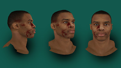 NBA 2K13 Russell Westbrook Cyberface with blood