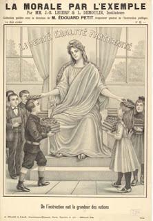 la morale par l'exemple, affiche de remise de prix, 1901, Estampes et Photographies, BnF Paris
