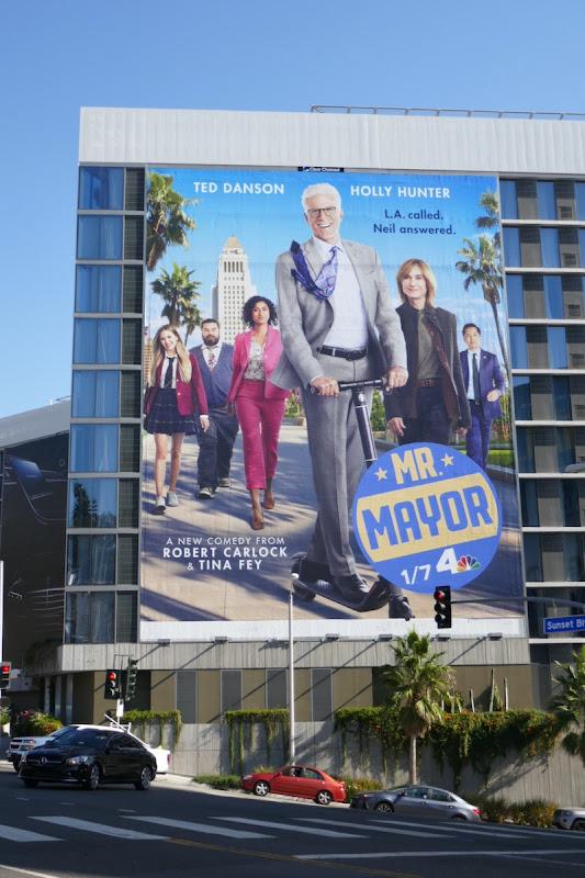 Giant Mr Mayor NBC series billboard