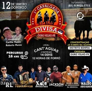Cavalgada da Divisa será o 1º grande evento do ano na região