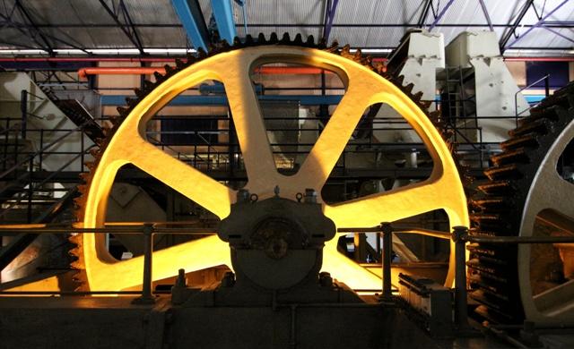 Maquinaria de la fabrica de azúcar