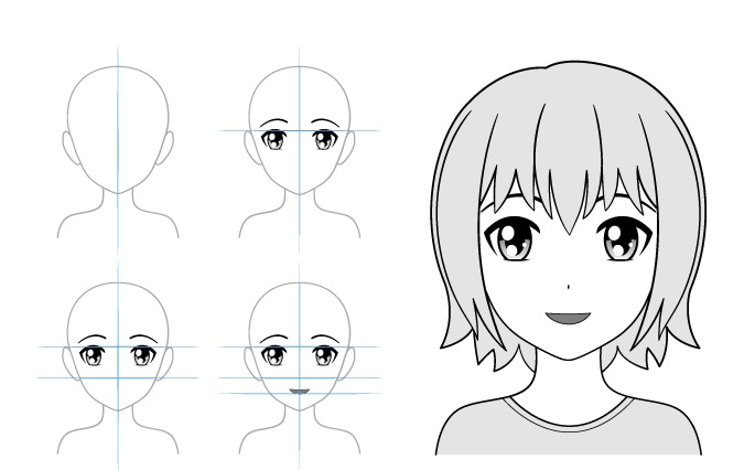 Dalam contoh cinta gadis anime menggambar