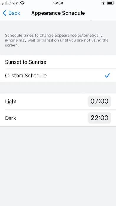 يمكنك إنشاء جدول مخصص لموضوعات Apple iOS الخاصة بك.