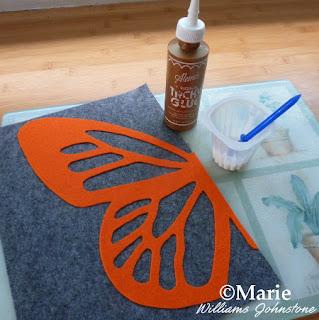 Tacky glue to stick felt fabric pieces together