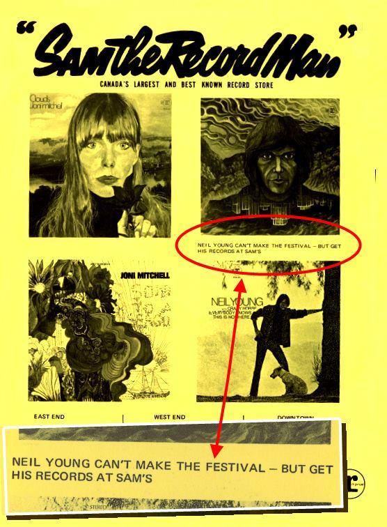 Neil Young Mariposa Folk Festival 1969