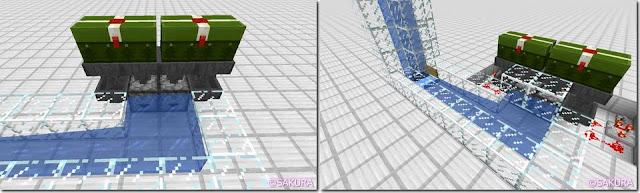Minecraft Redstone Circuit 水流式アイテムエレベーター アイテム投入