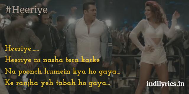 Heeriye ni nasha tera karke - Deep Money | Neha Bhasin & Kamaal Khan | Race 3, song lyrics with English Translation and real meaning