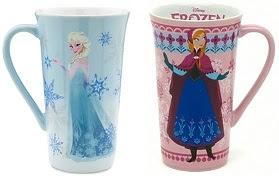 Such pretty Disney Store Elsa and Anna coffee mugs!