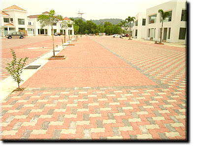 Kiraan Kos m2 Interlocking Concrete Pavers