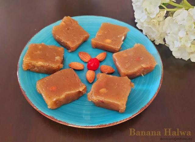 images of Banana Halwa Recipe / Banana Halwa With Jaggery / Easy Banana Halwa / How to make banana halwa recipe