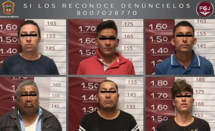 Detienen a seis Sicarios del CJNG en Edomex