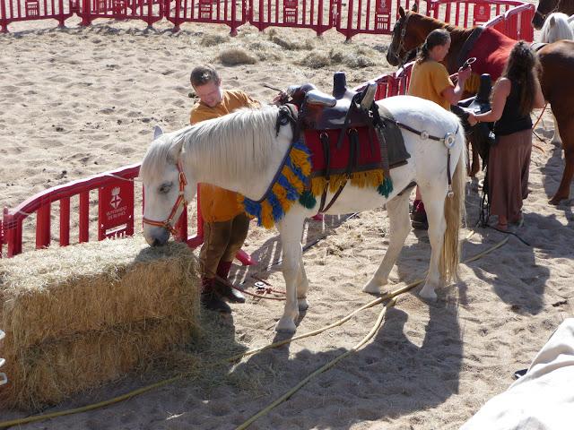 Историческая реконструкция в Бланесе. Задействованы даже лошади.