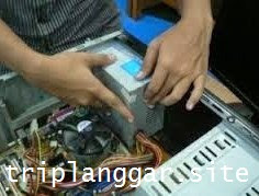 Pasang Power Supply Unit (PSU) Pada Casing