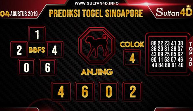 PREDIKSI TOGEL SINGAPORE SULTAN4D 04 AGUSTUS 2019