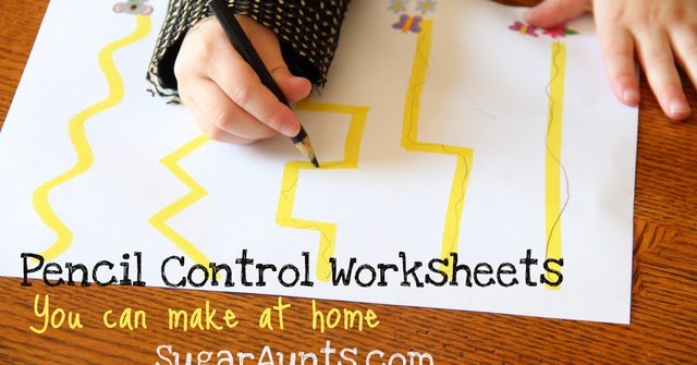 Pencil Control Worksheets (You can make at home) | The OT Toolbox