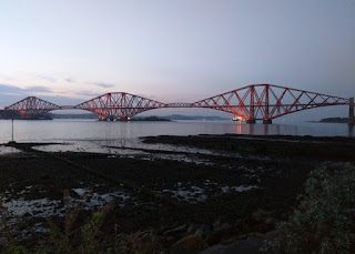 Rail bridge across the Firth of Forth, South Queensferry, Scotland