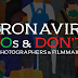 Coronavirus Dos and Don'ts for Photographers and Filmmakers