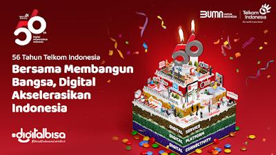 56 Tahun Telkom, Komitmen Wujudkan Kedaulatan Digital Indonesia