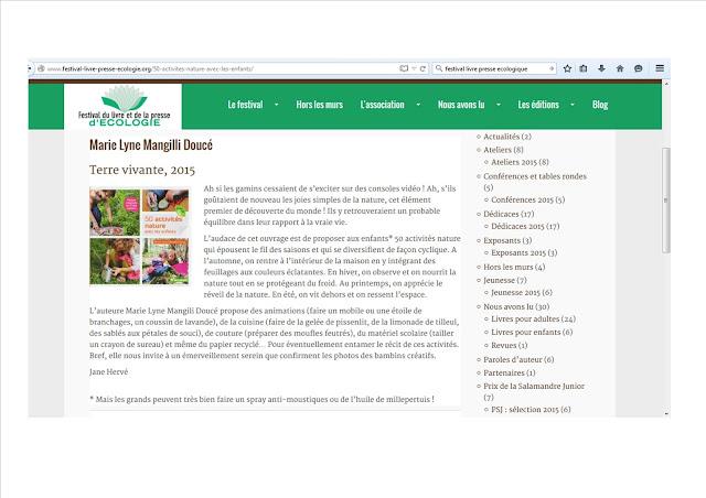 http://www.festival-livre-presse-ecologie.org/50-activites-nature-avec-les-enfants/