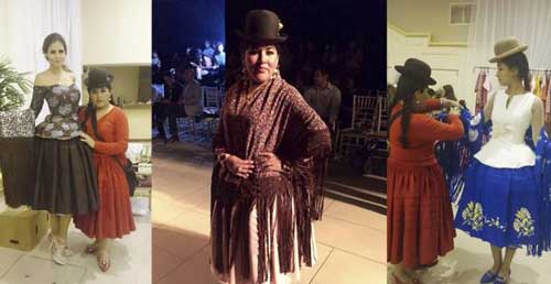 La cholita paceña brilla en el Bolivia Fashion Week