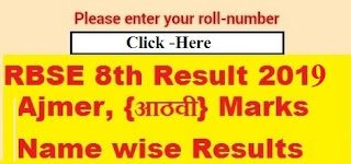 Rajasthan RBSE 8th Class Result 2019 Roll Number & Name Wise |8th
