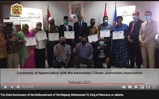 Kedubes Maroko Rayakan Hari Nasional Secara Online