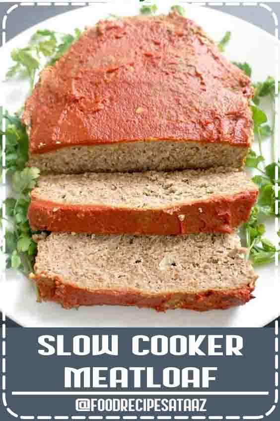 4.6 ★★★★★ | Slow Cooker Meatloaf, a delicious low-carb, keto-friendly, gluten-free, high-protein, and ridiculously easy to make recipe to lick your fingers clean. Healthy, packed with amazing flavours, this meatloaf is the very best you can get. #HighProtein #Low CarbRecipes #Crockpot #CleanEating