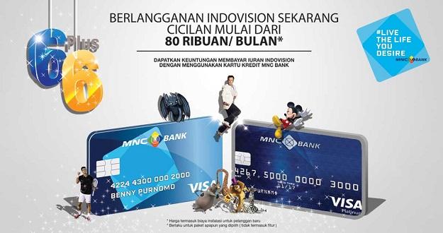 Berlangganan Indovision dengan cicilan Rp 80 ribuan per bulan.
