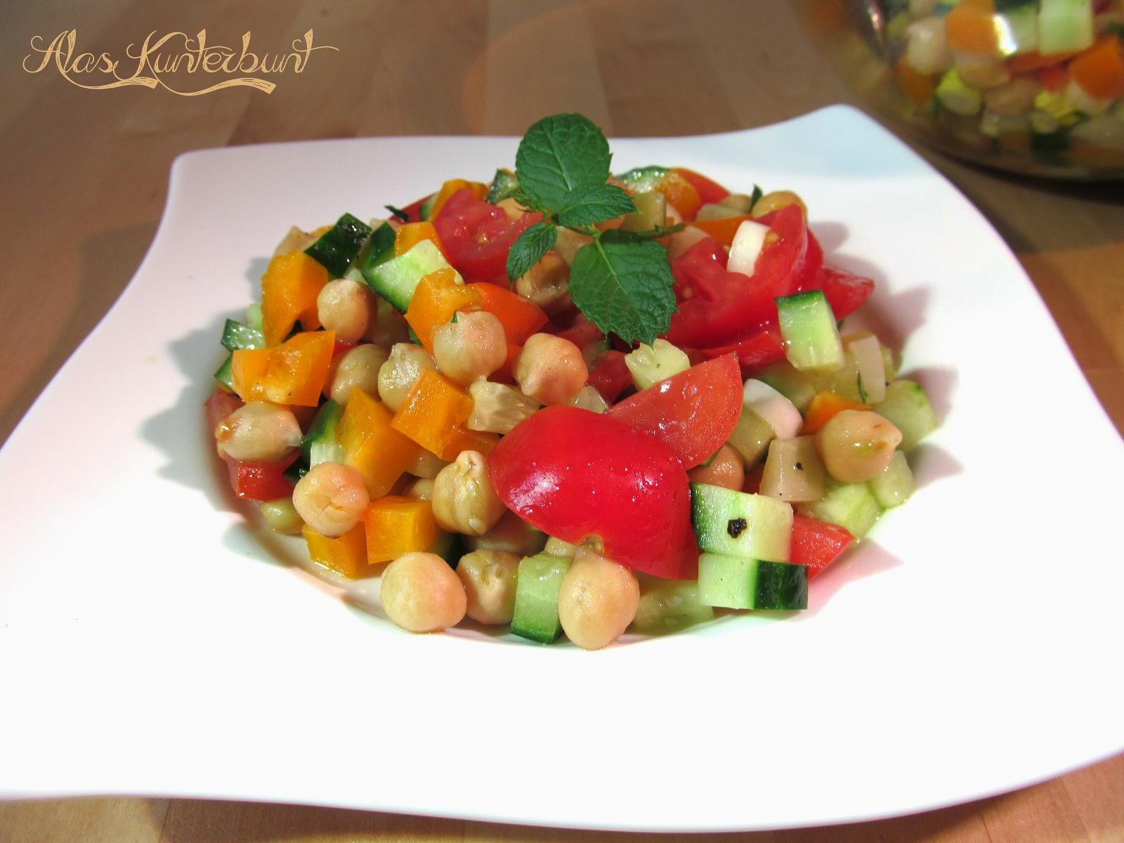 orientalischer Kichererbsensalat | Ala's Kunterbunt wenig Aufwand und schnell ein Sommergericht