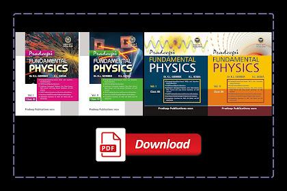 [PDF] Pradeep's Fundamental Physics for Class 11 & 12 Volume 1 & 2 with Solution