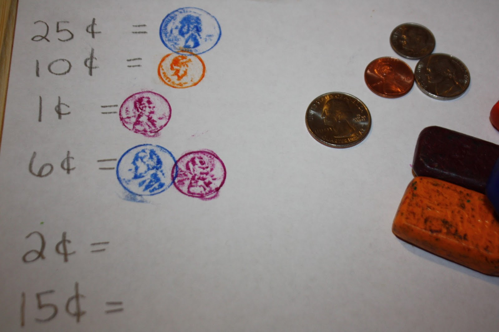 Coin Rubbings For Presidents Day