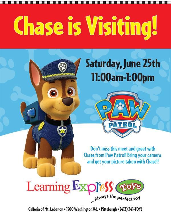 Paw Patrol Pittsburgh Pa : patrol, pittsburgh, Chase, Patrol-, LEARNING, EXPRESS, LEBANON, Macaroni, Pittsburgh