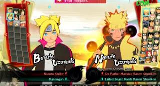 Game PPSSPP Naruto Shippuden (NSUNI Road to Baruto)
