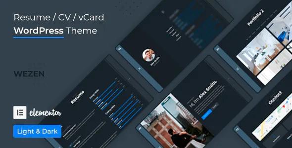 Best CV Resume WordPress Theme