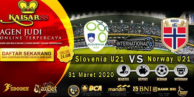 Prediksi Bola Terpercaya Liga International Slovenia U21 VS Norway U21 31 Maret 2020