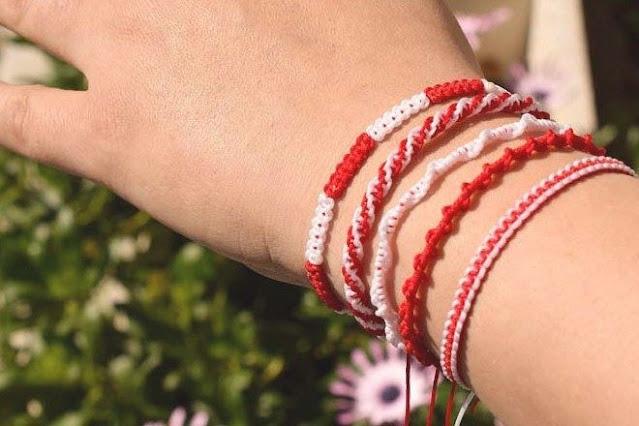 Το έθιμο του Μάρτη - Γιατί φοράμε το βραχιολάκι από άσπρη και κόκκινη κλωστή - Τι συμβολίζει;