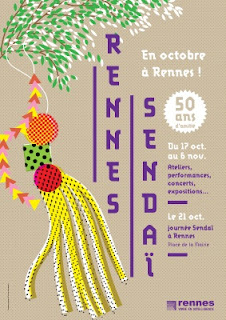Affiche Sendai à Rennes – Conception graphique © www.puzzle-rennes.fr