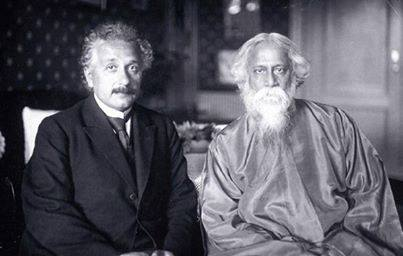 Rabindranath Tagore and Einstein at his residence at Kaputh in the suburbs of Berlin on July 14, 1930