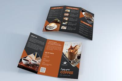 Contoh brosur kedai kopi